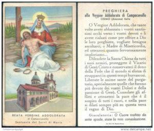Preghiera alla Beata Vergine Addolorata di Campocavallo